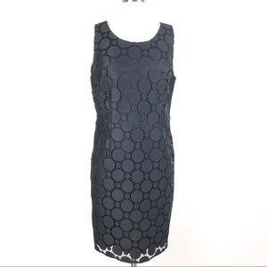 New DKNY sheath dress black circle lace sleeveless